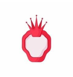 Royal banner icon cartoon style vector image