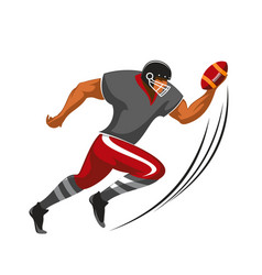running back player american football game athlete vector image