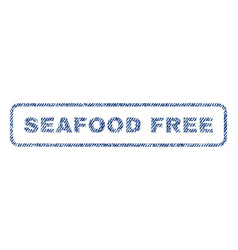 Seafood free textile stamp vector