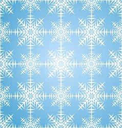Seamless pattern snowflakes winter set vector