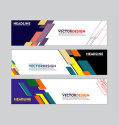 set of banner design for web banner brochure vector image
