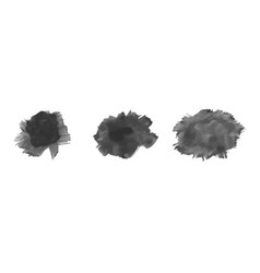 set watercolor black stains vector image