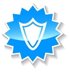 Shield blue icon vector