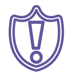 shield with alert symbol vector image