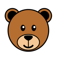 simple cartoon a cute bear vector image
