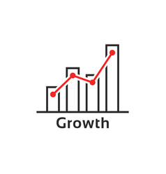 simple thin line growth logo like success vector image