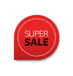 special offer super sale tag promo marketing vector image