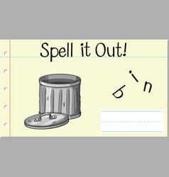 Spell english word bin vector