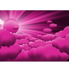 Sun and purple sky vector image
