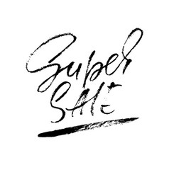 super sale inscription handwritten modern vector image