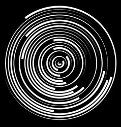 Swirly concentric segmented circles abstract vector