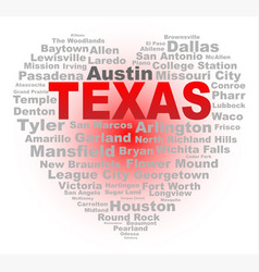 Texas heart vector