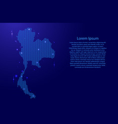 thailand map country abstract silhouette from vector image