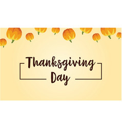 Thanksgiving day background card style vector