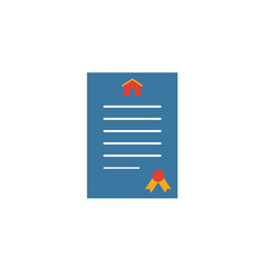 Treaty icon simple element from real estate icons vector