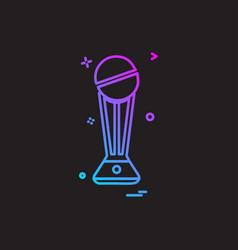 trophy winner won icon design vector image