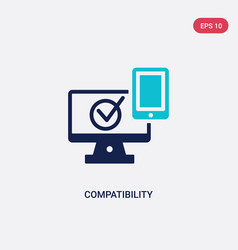 Two color compatibility icon from general-1 vector