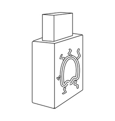 USB with virus icon in outline style isolated on vector image