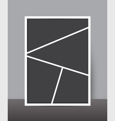 Vertical collage layout template frames for photo vector