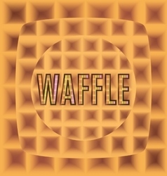 Waffles one after another from the logo text vector
