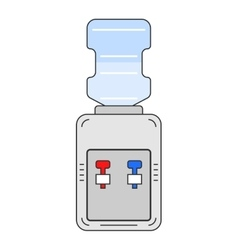 Water cooler Flat color icon equipment for vector image