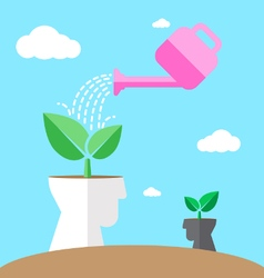 watering environmental mind vector image