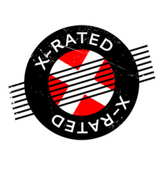 X-rated rubber stamp vector