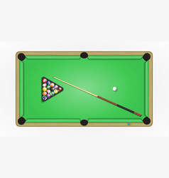 accessories to a game in pool vector image