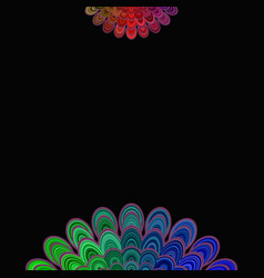 colorful abstract floral mandala background - vector image vector image
