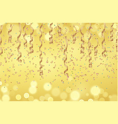 curly golden paper ribbon vector image