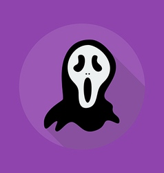 Halloween flat icon creepy ghost vector