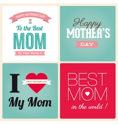 mothers day cards vector image vector image