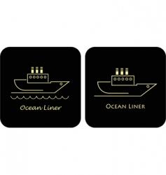 ocean liners vector image vector image