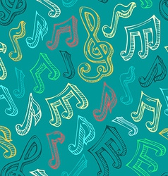 Retro seamless music pattern vector image vector image