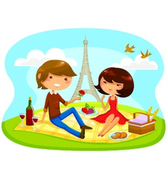romantic picnic vector image vector image