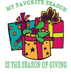 Season of giving vector