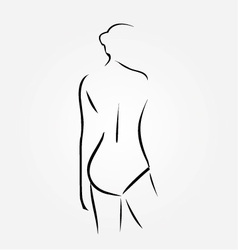 Woman wearing lingerie or swimsuit vector
