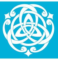 celtic knot motif vector image vector image