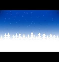 Christmas tree snow blue sky vector image vector image