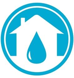 drop on home icon vector image vector image