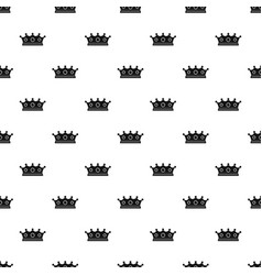 jewelry crown pattern vector image vector image