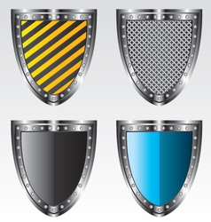 Shields set vector image vector image