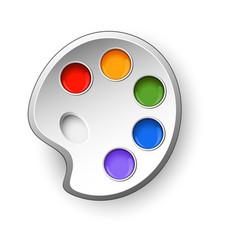art palette vector image vector image
