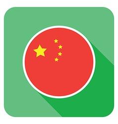 flat china icon vector image vector image