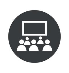 Monochrome round audience icon vector