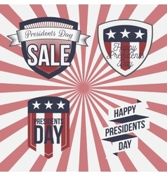 Presidents Day patriotic Labels Set vector image vector image