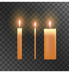 candles on transparent background vector image vector image