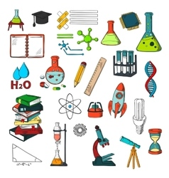 Chemistry physics mathematics education sketches vector