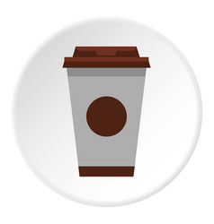 cup of coffee icon circle vector image