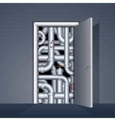 Door to Boiler Room vector image vector image